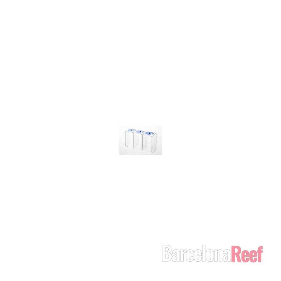 Depósito acrílico triple para líquidos 3 x 1,5 l Blau Aquaristic